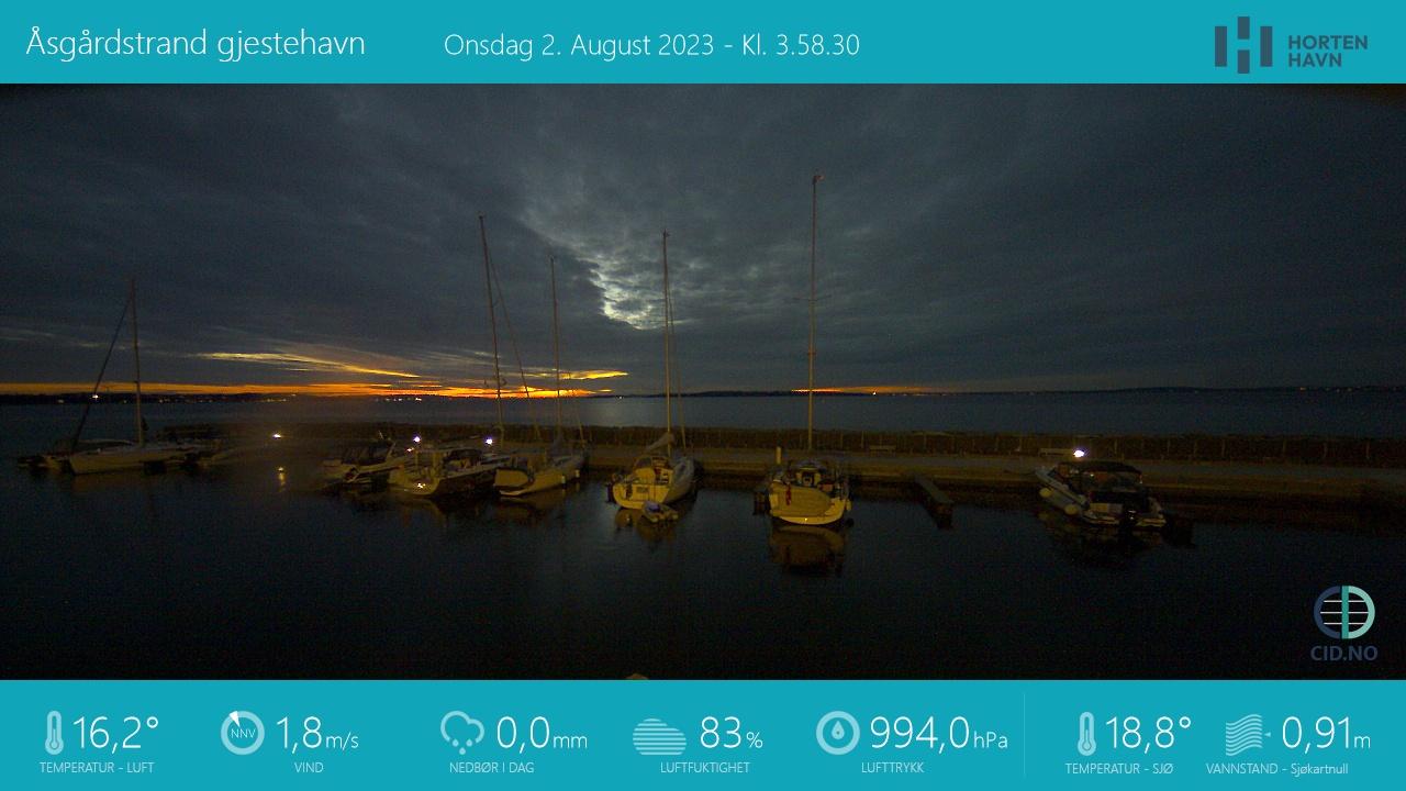 Åsgårdstrand Havn - mot øst