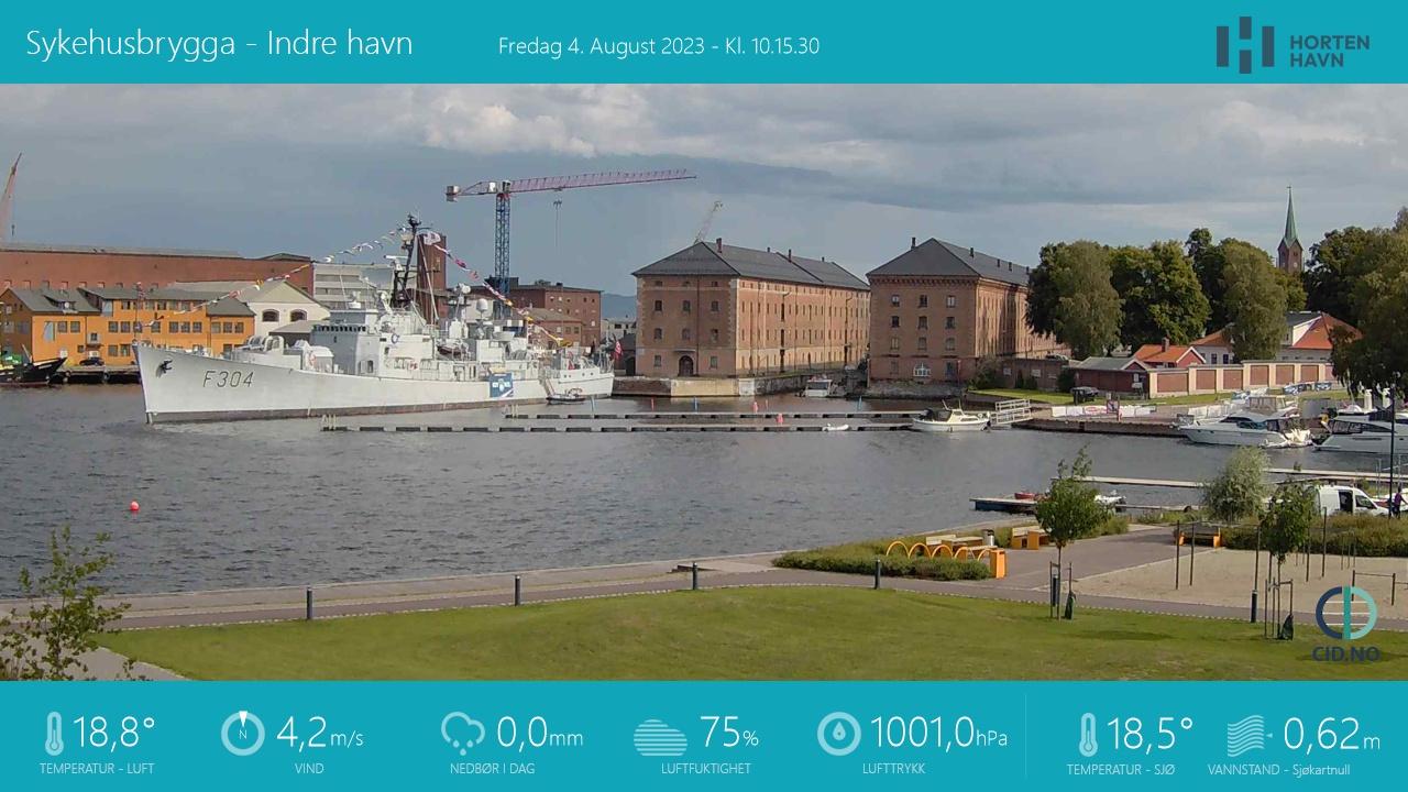 Webcam Horten, Horten, Vestfold, Norwegen